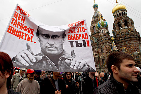 Anti-Putin-Demonstration in St. Petersburg