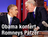 US-Präsident Barack Obama und TV-Talker David Letterman