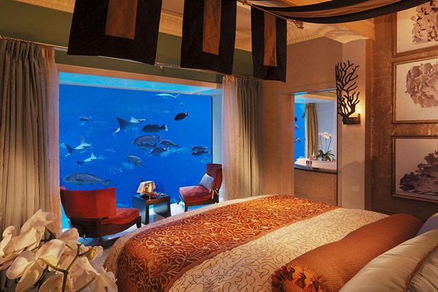 Schlafzimmer Der Unterwasser Suiten Im Atlantis The Palm In Dubai